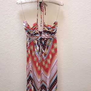 Dresses & Skirts - Aztec vibrant halter maxi dress